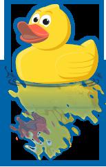 Happy Duck Mascot